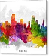 Miami Florida Cityscape 13 Canvas Print