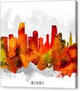 Miami Florida Cityscape 15 Canvas Print