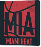 Miami Heat City Poster Art Canvas Print