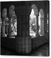 Miami Monastery In Black And White Canvas Print