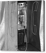 Miami Pay Phone Canvas Print
