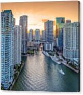 Miami River Fron The Drone Canvas Print