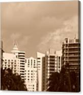 Miami  Sepia Sky Canvas Print