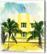 Miami South Beach Ocean Drive 2 Canvas Print