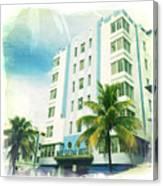 Miami South Beach Ocean Drive 4 Canvas Print