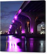 Miami Under The 395 At Night Canvas Print
