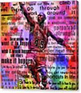 Michael Air Jordan Motivational Inspirational Independent Quotes 3 Canvas Print