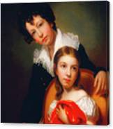 Michael Angelo And Emma Clara Peale Canvas Print