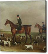 Michael Beverley With His Whipper In And Harriers Canvas Print