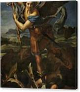 Michael Defeats Satan  Canvas Print