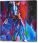 Michael Jackson Action Canvas Print