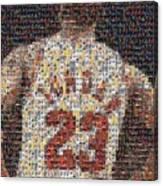 Michael Jordan Card Mosaic 2 Canvas Print