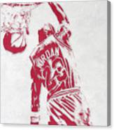 Michael Jordan Chicago Bulls Pixel Art 1 Canvas Print