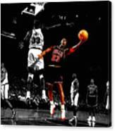 Michael Jordan Left Hand Canvas Print