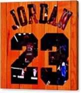 Michael Jordan Wood Art 1c Canvas Print
