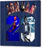 Michael Jordan Wood Art 2c Canvas Print