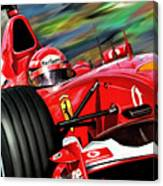 Michael Schumacher Ferrari Canvas Print
