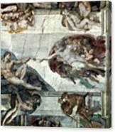 Michelangelo: Adam Canvas Print
