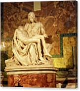 Michelangelo Masterpiece Of A Mother's Love Canvas Print
