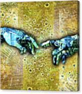 Michelangelo's Creation Of Man Canvas Print