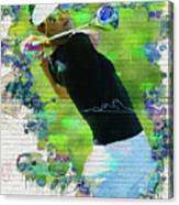 Michelle Wie Street Art Canvas Print