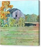 Michigan Autumn Barn Canvas Print