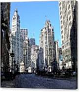 Michigan Ave Wide Canvas Print