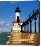 Michigan City Light 1 Canvas Print