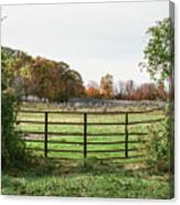 Michigan Farm And Fence  Canvas Print