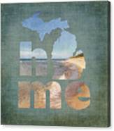 Michigan Home Canvas Print