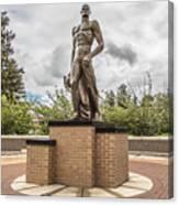 Michigan State - The Spartan Statue Canvas Print