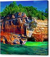 Michigan  Up Pictured Rock Kayakers 9060900109 Canvas Print