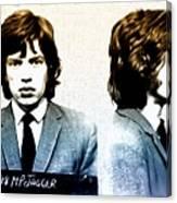 Mick Jagger Mugshot Canvas Print