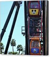 Mickey Donald Ferris Wheel California  Canvas Print