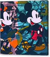 Mickey Mouse Vs. Minnie Mouse Stage On Canvas Print