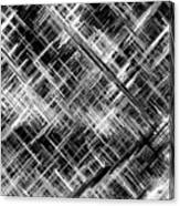 Micro Linear Black And White Canvas Print