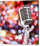 Microphone Canvas Print