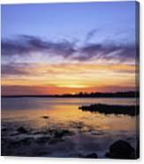Mid April Sunset Canvas Print