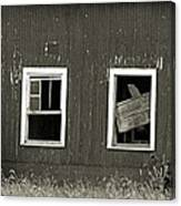 Mid-century Barn Wood Salvage Canvas Print