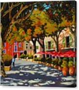 Mid-day Shade In The Village Canvas Print