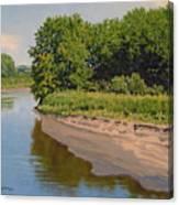 Mid Summer Prairie Stream Canvas Print