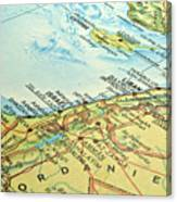 Middle East Map. Canvas Print