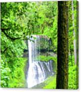 Middle North Falls 5 Canvas Print