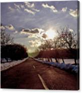 Middle Of The Road Canvas Print