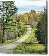 Middle Road In Autumn Canvas Print