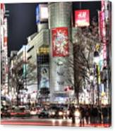 Midnight At Shibuya Canvas Print