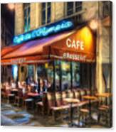 Midnight At The Brasserie Canvas Print