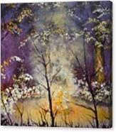 Midnight Campsite Canvas Print