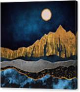 Midnight Desert Moon Canvas Print