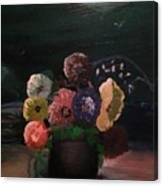 Midnight Flower Canvas Print
